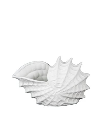 Privilege International White Ceramic Sea Shell