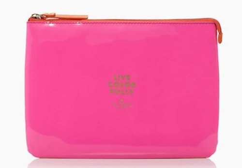 Kate Spade New York Live Colorfully Cosmetics Makeup Case Bag front-293979