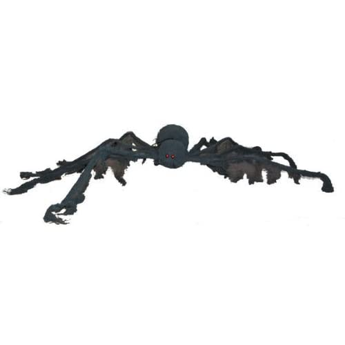 Halloween decoration - GIANT Creepy Cloth SPIDER - extends 4 feet!