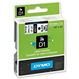 Brand New. Dymo D1 Tape for Electronic Labelmakers 12mmx7m Black on White Ref 45013 S0720530