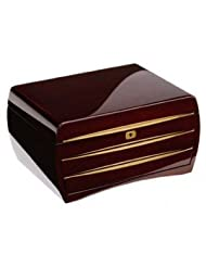 Buben & Zorweg Cosmopolitan Luxury Jewelry Collectors Case In Classique Cherry