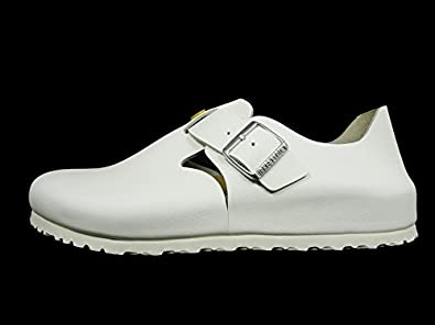 birkenstock london white leather shoes