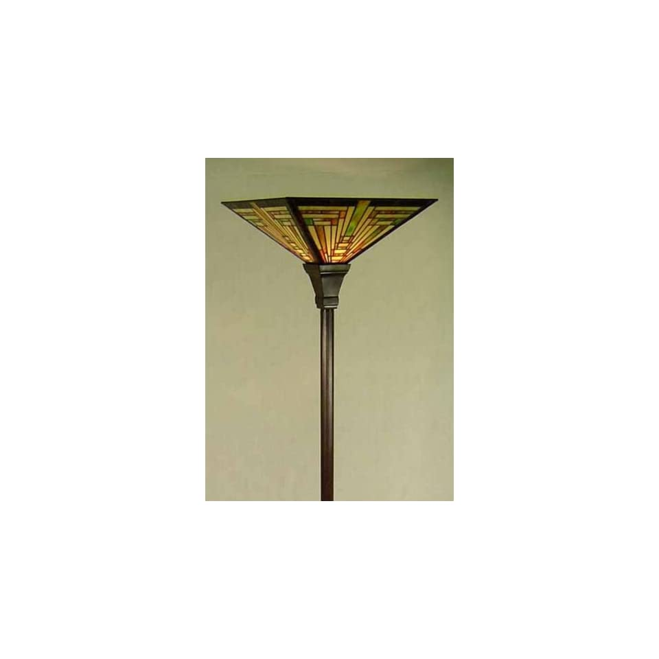Tiffany Style Stained Glass Torchiere Floor Lamp FT14159