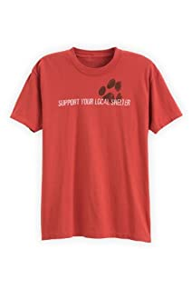 Green 3 Apparel Men's Organic Cotton Support Your Local Dog Shelter Tee