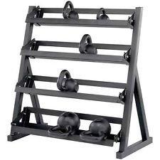 4 Tier Black Kettle Bell Stand Rack Kettlebell Rack Stand