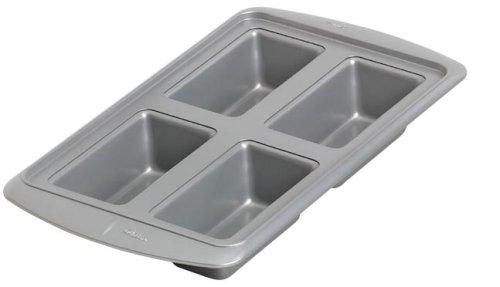 Wilton Avanti Everglide Metal-Safe Non-Stick 4 Cavity Mini Loaf Pan