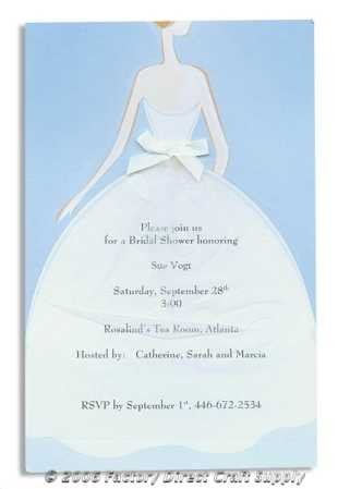 Bridal Shower Dress Complete Invitation Kit Creates 10 Invitations By Wilton