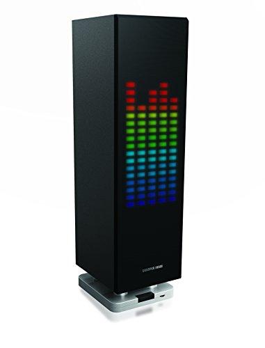 sharper-image-sbt1003bk-bluetooth-speaker-with-lights-beat-responsive-sound-system-mini-tower-led-li