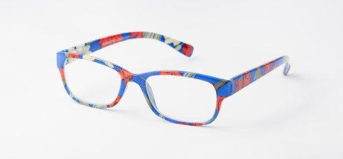 loudspecs-gafas-de-leer-charlotte-35-con-bonito-estampado-floral-azul-rojo-amarilo-y-negro-hombre-y-