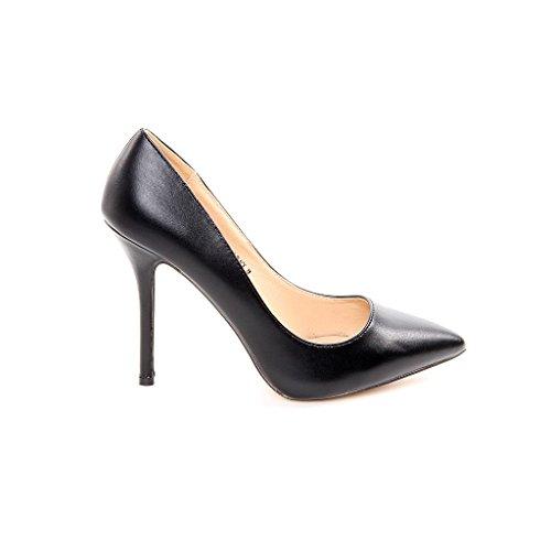 Scarpa Décolleté Tacco pfenningabsatz in ecopelle elegante sera scarpe da Office ufficio, nero (nero), 38 EU