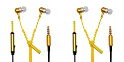 JIYANSHI combo of stylish zipper yellow Compatible with Intex Aqua Wonder Dual SIM