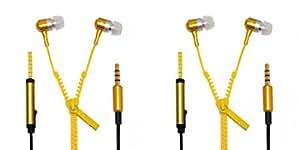 JIYANSHI combo of stylish zipper yellow Compatible with Sony Xperia Z5 Premium