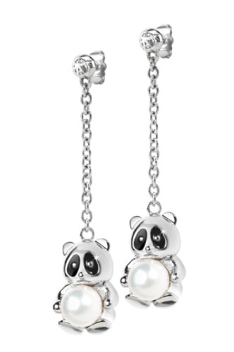 "Morellato Damen-Ohrringe Edestahl mit Anhänger ""Panda"" Animalia SKP19"