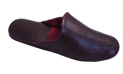 Leichte Herren Pantoffeln mit weicher Sohle, Gr.40,bordeaux