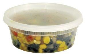48 Sets 8 Oz Plastic Deli Food Storage Container Delitainer