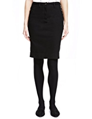 Autograph Cotton Rich X-FIT Pencil Skirt with StayNEW™