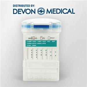 Devon Medical 12 Panel Integrated E-Z Split Key Cup Drug Test - AMP, BAR, BUP, BZO, COC, mAMP, MTD, OPI, OXY, PPX, THC and MDMA/Ecstacy (1 Test)