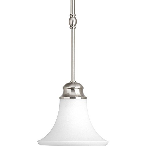 Progress Lighting P5010-09 1-Light Mini-Pendant from The Applause Collection, Brushed Nickel Finish