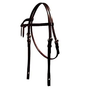 Intrepid International Knotted Brown Band Western Bridle