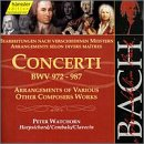 Bach: Concerti, BWV 972-987 - arrangements of other composers (Edition Bachakademie Vol 111) /Watchorn (harpsichord)