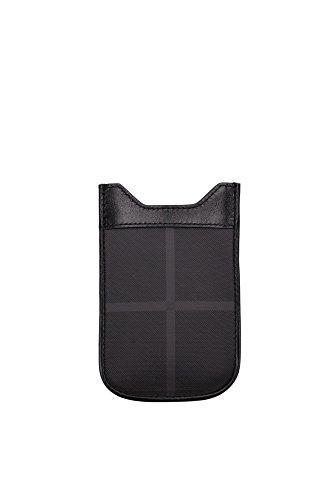 Porta iPhone Burberry Uomo Tessuto Nero 3767976 Nero 8.5x12.5 cmEU
