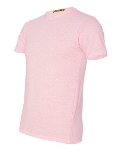 Alternative Unisex Eco-Heather Short Sleeve Crew Tee, Eco Pink Ribbon, Medium