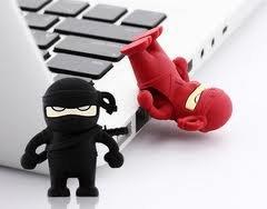 8GB Ninja RED Memory Stick USB 2.0 Flash Drive. by NUT