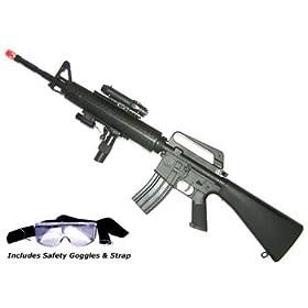 M16A3 Airsoft Rifle with LED illuminator
