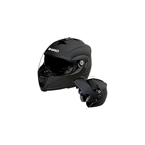 CASQUE INTEGRAL MODULABLE SHIRO SH-839 ****HURRICANE NOIR MAT S