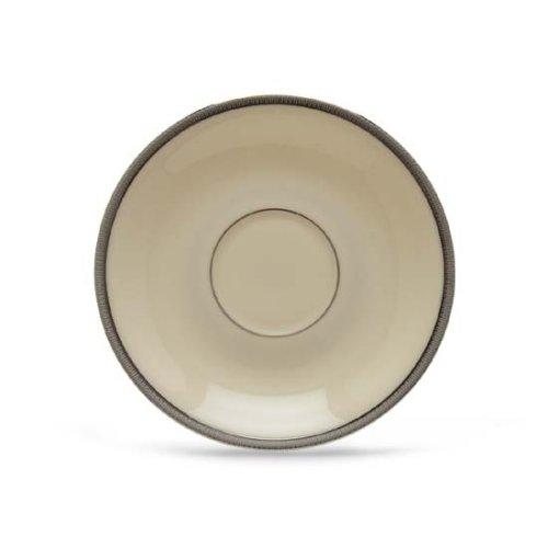 Lenox Tuxedo Platinum Ivory China Saucer