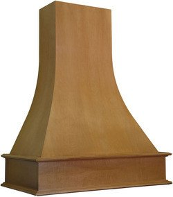 Omega National 42 Inch W Artisan Wood Wall Chimney Range Hood, 260-650 Cfm, Unfinished, Red Oak