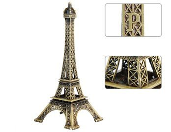 Wisedeal Metal Marvels Eiffel Tower Paris France Figurine Replica Centerpiece Room Table Décor Jewelry Stand Tea Candle Holder (15Cm) front-1082904