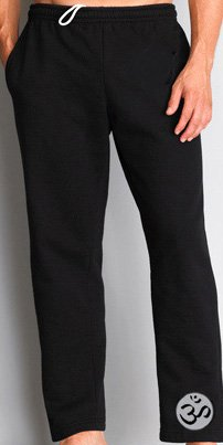 Men's Yoga Pants with OM Leg Print, XL, Black