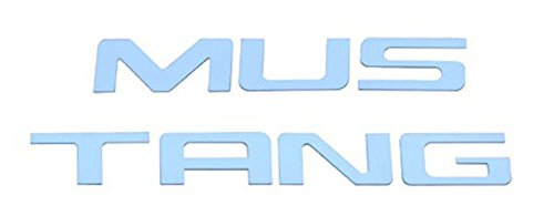 1999-04 Ford Mustang Polished Stainless Steel Bumper Insert Letters (Bullitt Emblem compare prices)