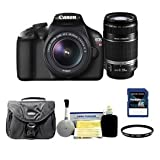 Canon EOS Rebel T3 EF-S 18-55mm IS II + EF-S 55-250mm f/4-5.6 IS II Deluxe Lens Kit
