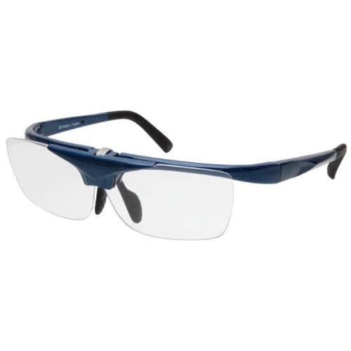エニックス 跳ね上げ老眼鏡 スポーツタイプ ネイビー +1.5度 FUR-01NAVY+1.50