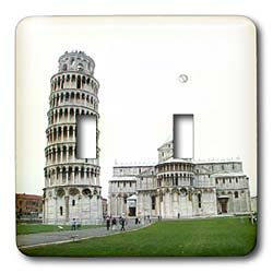 Vacation Spots - Tower Of Pisa Italy - Light Switch Covers - double toggle switch