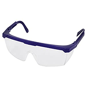 Blue Frame Clear Lens Adjustable Arm Welding Goggles ...