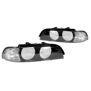 1997-2000 BMW E39 5 Series Clear Lens Headlight Frame Cover