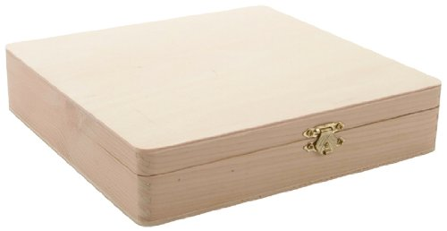 "Darice 9180-06 Unfinished Cigar Box, 8.375""x8.125""x1.75"""