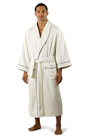 Men's Terry Cloth Bathrobe (Natural White, Small/ Medium) Best Robe Anniversary Birthday Gifts Present Husband Father Dad Boyfriend Fiancee Robe Men's MB0101-NWH-SM