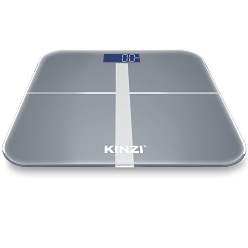 Kinzi Precision Digital Bathroom Scale w/ Extra Large Lighted Display, 400 lb. Capacity and