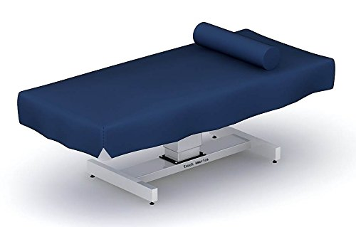 Fitted Vinyl Massage Table Wet Sheet in Dark Blue (Wet Table Massage compare prices)