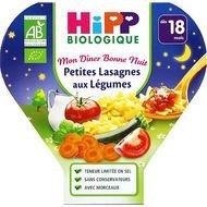 Hipp - Petites lasagnes aux légumes bio, dès 18 mois, 260g lot de 3
