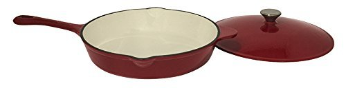 useful-uh-ci215-12-inch-cast-iron-enamel-covered-skillet-with-lid-and-spout