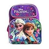 Disney Frozen Backpack 16Large Bag, Elsa & Anna Light Purple Snow