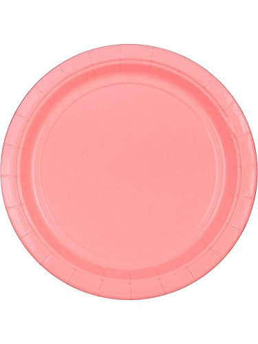 """Candy Pink 9"""" Paper Plate, 8Ct. front-1050804"""