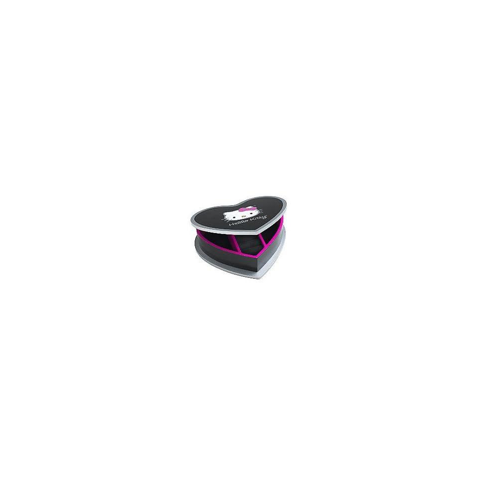 Hello Kitty Heart Shaped Wooden Jewelry Box Grey/Pink