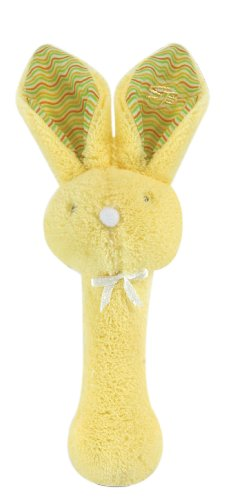 Stephan Baby Fuzzy Bunnie Rattle, Yellow