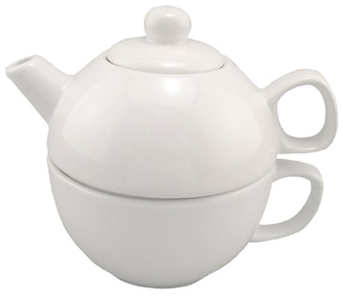 Bia Cordon Bleu 12-Ounce Teapot And Cup For One, White